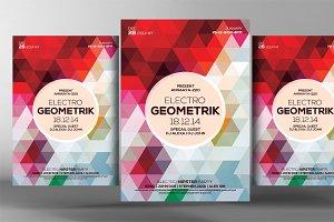 Geometric Electro Trance Flyer