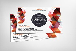 Geometric Sounds Flyer Template