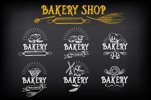 Bakery icons & badges