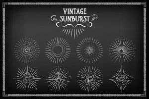 Sunburst ray chalkboard