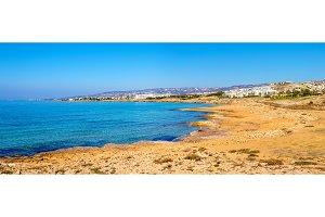 Mediterranean coastline in Paphos - Cyprus
