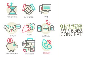 Liner set business concept