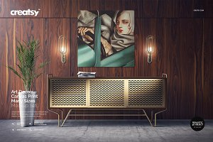 Art Deco Canvas Print Mockup