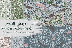 Seamless Pattern Bundle Axolotl