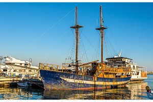 Sailing ship in Paphos Harbour - Cyprus