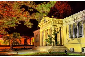 Town hall of Paphos at night - Cyprus