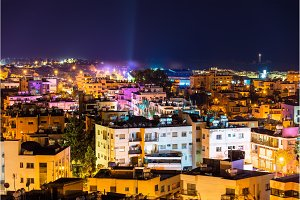 Night view of Paphos city - Cyprus