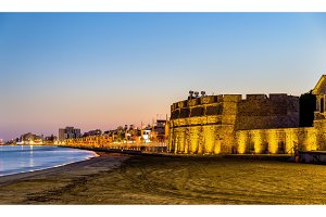 Larnaca Castle, the southern coast of Cyprus