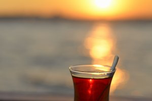 Sunset and Tea in Istanbul