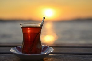 Tea and Sunset in Istanbul