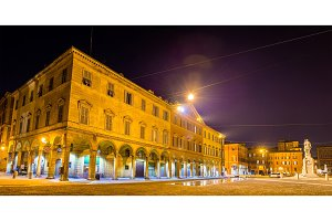 Buildings on Piazza Roma in Modena - Italy