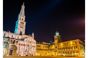 Cathedral and Town Hall of Modena - Italy