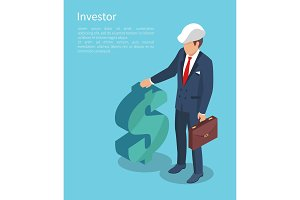 Ivestor, Vector Illustration with Businessman