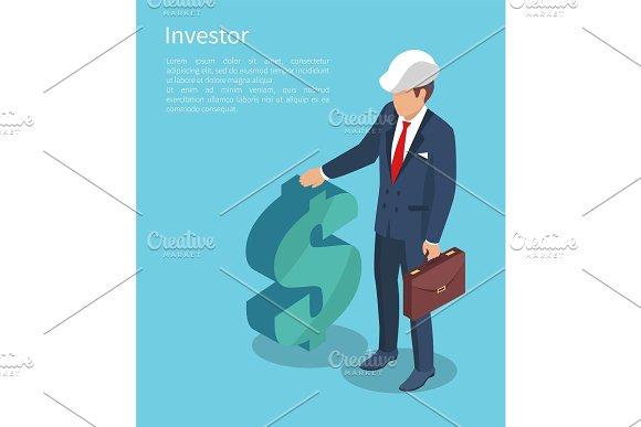 Ivestor, Vector Illustration with Businessman