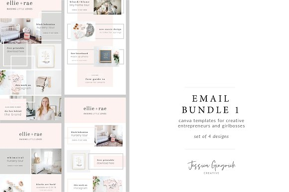 email templates for canva email templates creative market