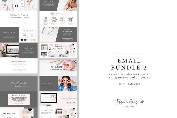 Other Platform Email Templates: Jessica Gingrich - Email Bundle 2 - Canva Templates