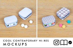 tin mockup / candy tin / box