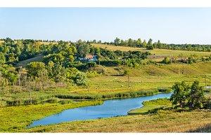 Meadow in Bolshoe Gorodkovo - Kursk region, Russia