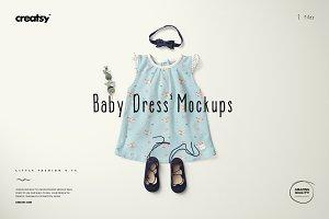 Baby Dress Mockup Set 5
