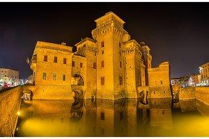 Castello Estense, a moated medieval castle in Ferrara
