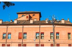 Buildings in the city centre of Ferrara - Italy