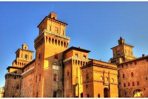 Castello Estense or castello di San Michele in Ferrara - Italy