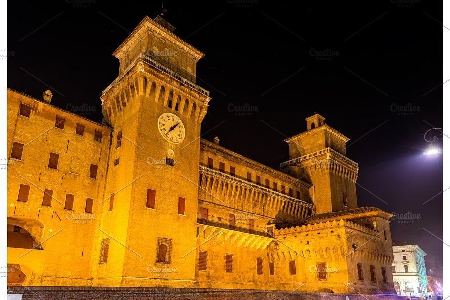 Castello Estense A Moated Medieval Castle In Ferrara Architecture