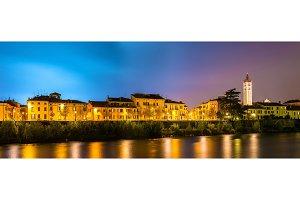 View of the embankment of Verona - Italy
