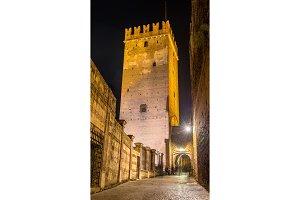 Tower of Castelvecchio castle in Verona - Italy