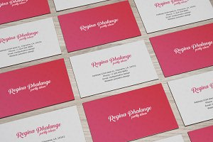 Party Business Card (Red)