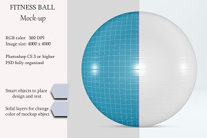 Fitness ball mockup. Exercise ball.
