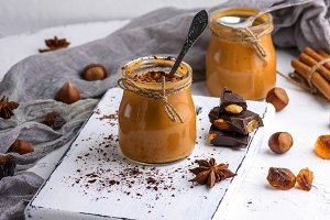 Toffee in a glass jar