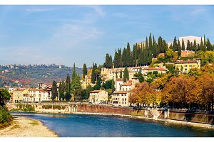 View of San Pietro hill in Verona - Italy