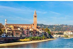 Verona with Santa Anastasia church - Italy