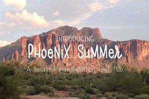 Phoenix Summer font Trio