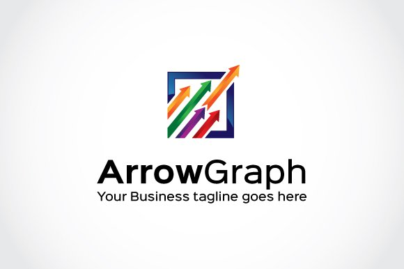 Arrow Graph Logo Template ~ Logo Templates ~ Creative Market