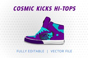 Cosmic Kicks Hi Tops