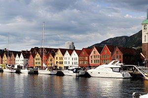 Bergen harbor. Norway
