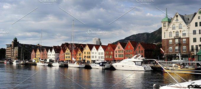 Bergen harbor. Norway - Architecture