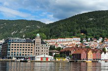 Gate to the fjord. Bergen. Norway