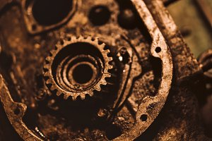 Part of rusty engine