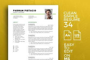Resume Template 34