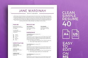 Resume Template 40