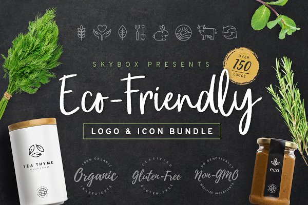 Eco-Friendly Logo & Icon Bundle