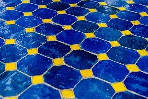 blue ceramic tiles