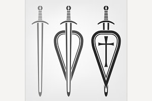 Swords and Shield Icons