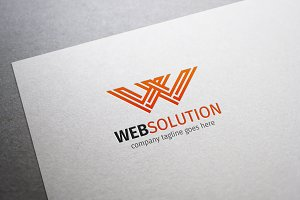 Web Solution W Letter Logo