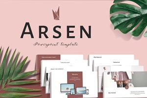 ARSEN Powerpoint Template 50% Off!