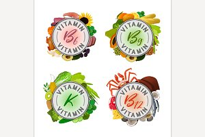 Vitamin Stamp Banners