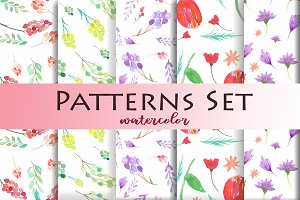 Pattertn Set Watercolor